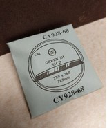 NEW Gruen 731 SSCD Watch Crystal Replacement C42 G-S CY928-68 27.9 x 26.... - $8.15