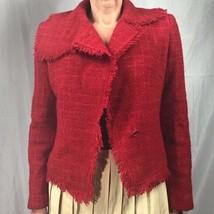 Express jacket women's 7/8 red wool blend - $28.71
