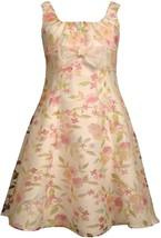 Bonnie Jean Little Girl 2T-6X Floral Burnout Lightweight Linen Fit Flare Social