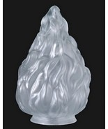 Light Shade Globe Satin Crystal Glass Stalactite 4 X 10 Flame Pole TV Lamp - $51.95