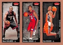 2008-09 Fleer #246 Mario Chalmers > DeAndre Jordan > Kyle Weaver RC Rook... - $1.25
