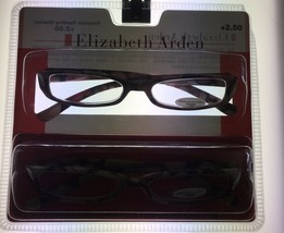 Elizabeth Arden Womens Readers 2 Pack Rectangle Brown Multi Plastic #01 ... - $17.99