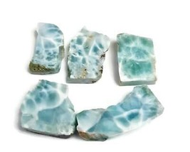 81 g   DOMINICAN  NICE  BLUE LARIMAR  SLABS  ROUGH  LAPIDARY OFFER - $47.42