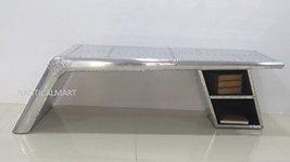 Nauticalmart Vintage Aluminium Elegant Aviator Wings Coffee Table / Desk  - $1,499.00