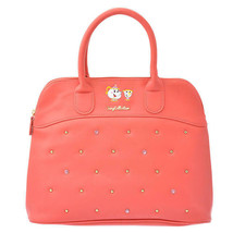 Disney Beauty and the Beast Mrs Pot Boston Bag salmon pink Tote Bag Hand... - $85.14