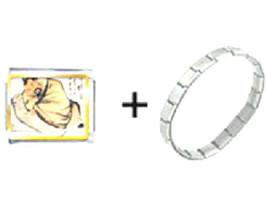 Bracelet Italian Charm Stealing The Wine Vat Pa... - $17.95