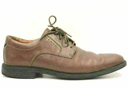 Clarks Men Leather Plain Toe Dress Oxfords Size US 10M Brown - $35.53