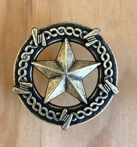 Set of 6 Star with Barbwire Drawer Pull, Old Silver in Color, - $19.79
