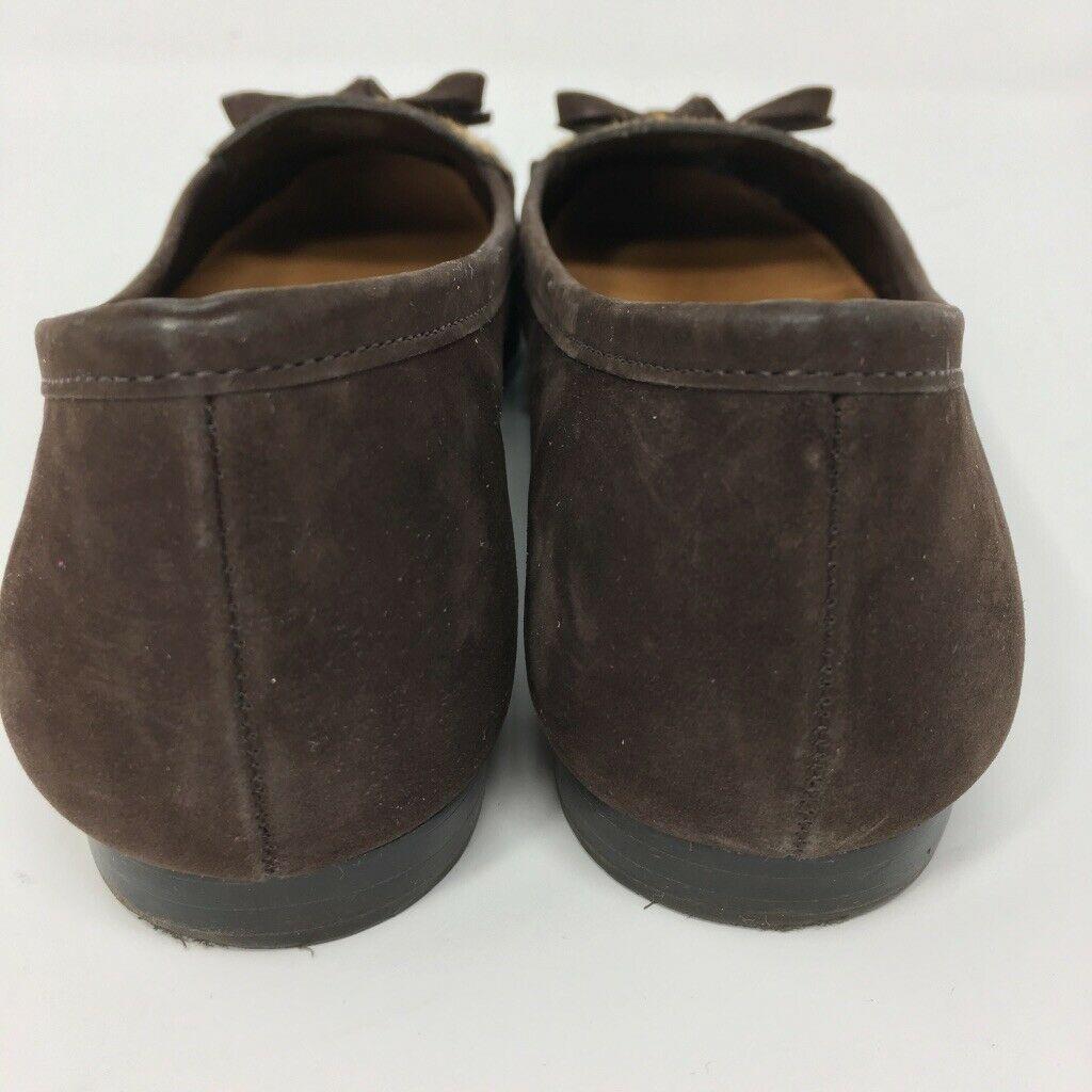 Antonio Melani Women's Leather Flats, Size 7M, Brown, Leopard Pattern, Slip on