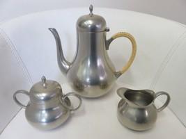 Kurz Tiel Holland Pewter Coffee Pot Teapot Sugar Bowl Creamer C&K Co. Ed... - $48.19