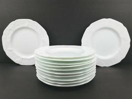 12 Colony Indiana Harvest Milk Glass Dinner Plates MCM White Grape Vintage Set - $138.57