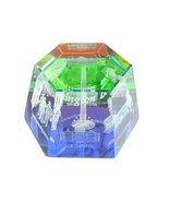 Washington DC Hexagon Glass 3-D Laser Crystal Souvenir:( Rainbow) Washin... - $17.99