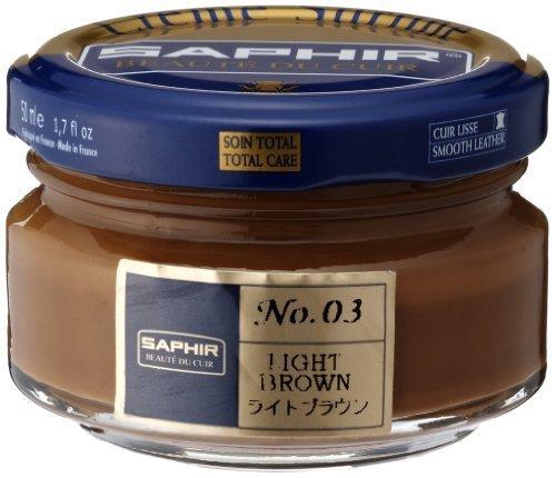 Saphir Shoe Cream 50ml. Jar Light Brown