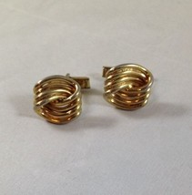 Vintage Swank Cufflinks - Gold Tone Twist Fashion - $9.49