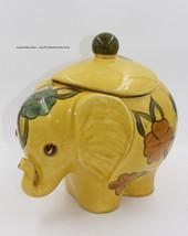 Flora Vintage 70s Yellow Elephant Cookie Jar - $55.00