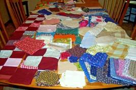 Vintage lot of fabric quilt blocks tops scraps pieces feedsack cotton po... - $9.99