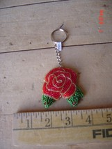 Beaded Key Chain - ROSE - ROSES - Gardening  - Lot of TWO (2) - $9.89