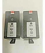 2 PACK HP GENUINE 902XL Black Ink  OFFICEJET PRO 6960 6961 6964 EXP 12/2... - $67.31