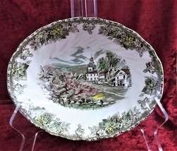 "Vintage Collectible Johnson Bros Friendly Village Vegetable Bowl ""Village Green"" - $18.99"
