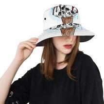 Skull Summer Ice Cream Cone Fashion Fishing Sun Bucket Hats - $27.00
