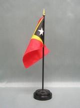 "Timor, East 4X6"" Table Top Flag W/ Base New Desk Top Handheld Stick Flag - $4.95"