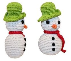 Holiday Knit Knack Frost The Snowman Organic Small Dog Toy - $12.99