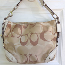 Genuine Coach Purse- Tan Carly Optic Signature-... - $54.90