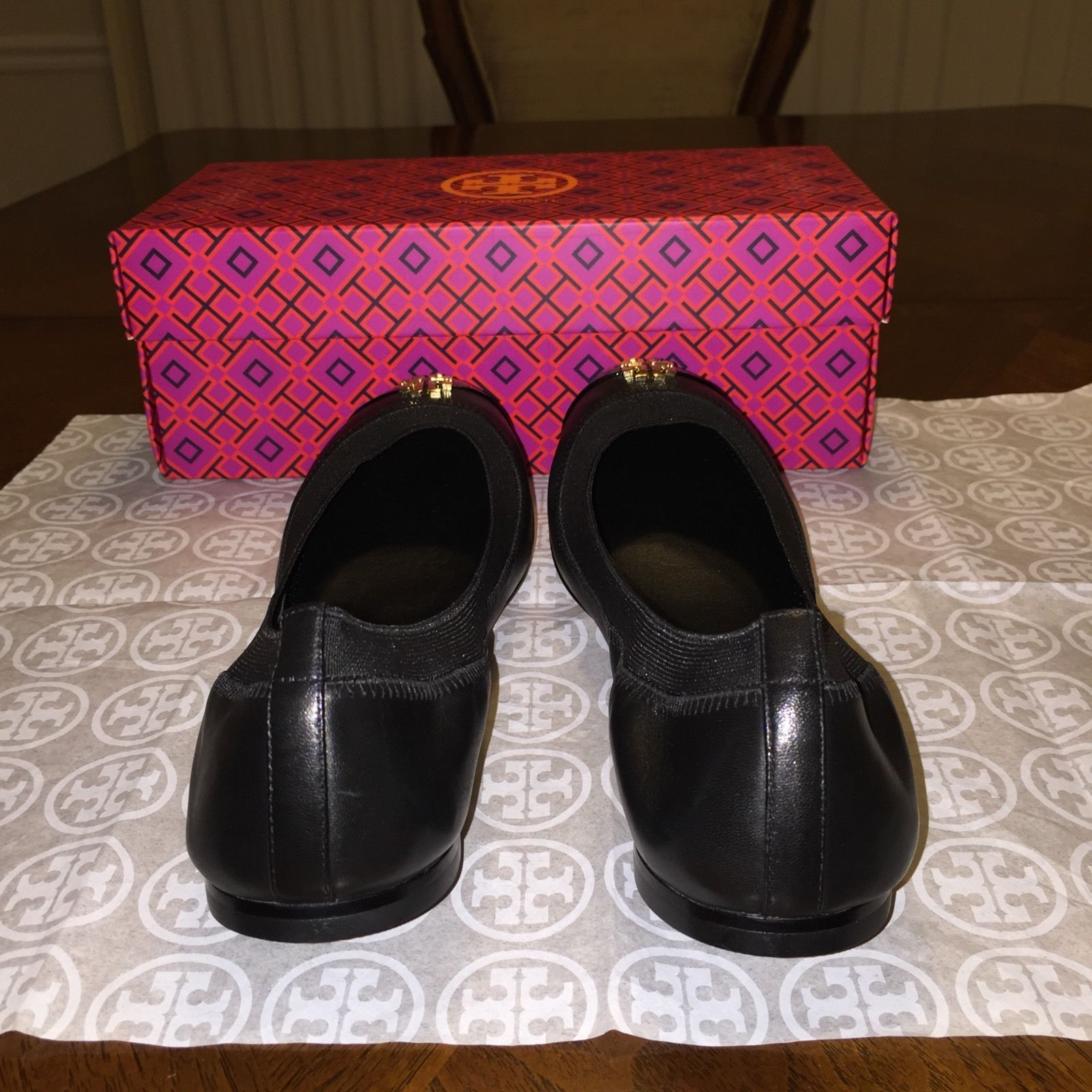 NIB Tory Burch Jolie Ballet Flat Size 9 in Black