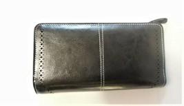 RFID Blocking Large Capacity Genuine Leather Ladies Wallet, Black image 2