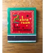 Zebra Room Bar Lounge New Orleans LA Vintage Matchbook Travel Souvenir - $9.49