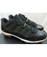 Air Jordan XI Retro Low TD Black Space Jam Football Cleats AO1560-011 Si... - $118.79