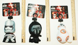"3 LOT - DISNEY STAR WARS 4.5""-5"" PLUSH TOYS CHARACTER BAG CLIP-ON SERIES... - $13.88"