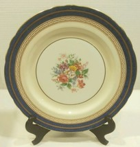 "Aysnley Wadsworth Bone China 10.5"" Dinner Plate England Cobalt Blue Floral  - $23.29"