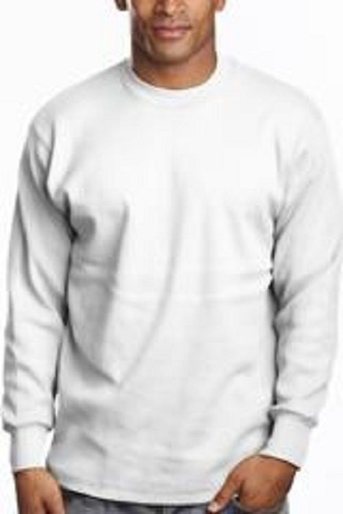 03d837a3142 White Long Sleeve T Shirt Heavy Weight Crew and 50 similar items. 57