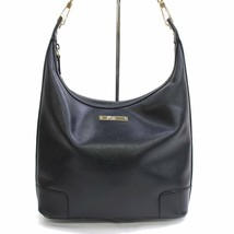 Authentic Gucci Womens Black Genuine Leather Looping Shoulder Bag Purse ... - $273.12