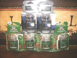 Yankee Candle Car Jar Ultimate 3 Balsam Cedar 2 Midsummers Night Air Freshener - $24.25