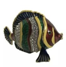 Rucinni Tropical Fish Trinket Box encrusted with Swarovski crystals - $36.49