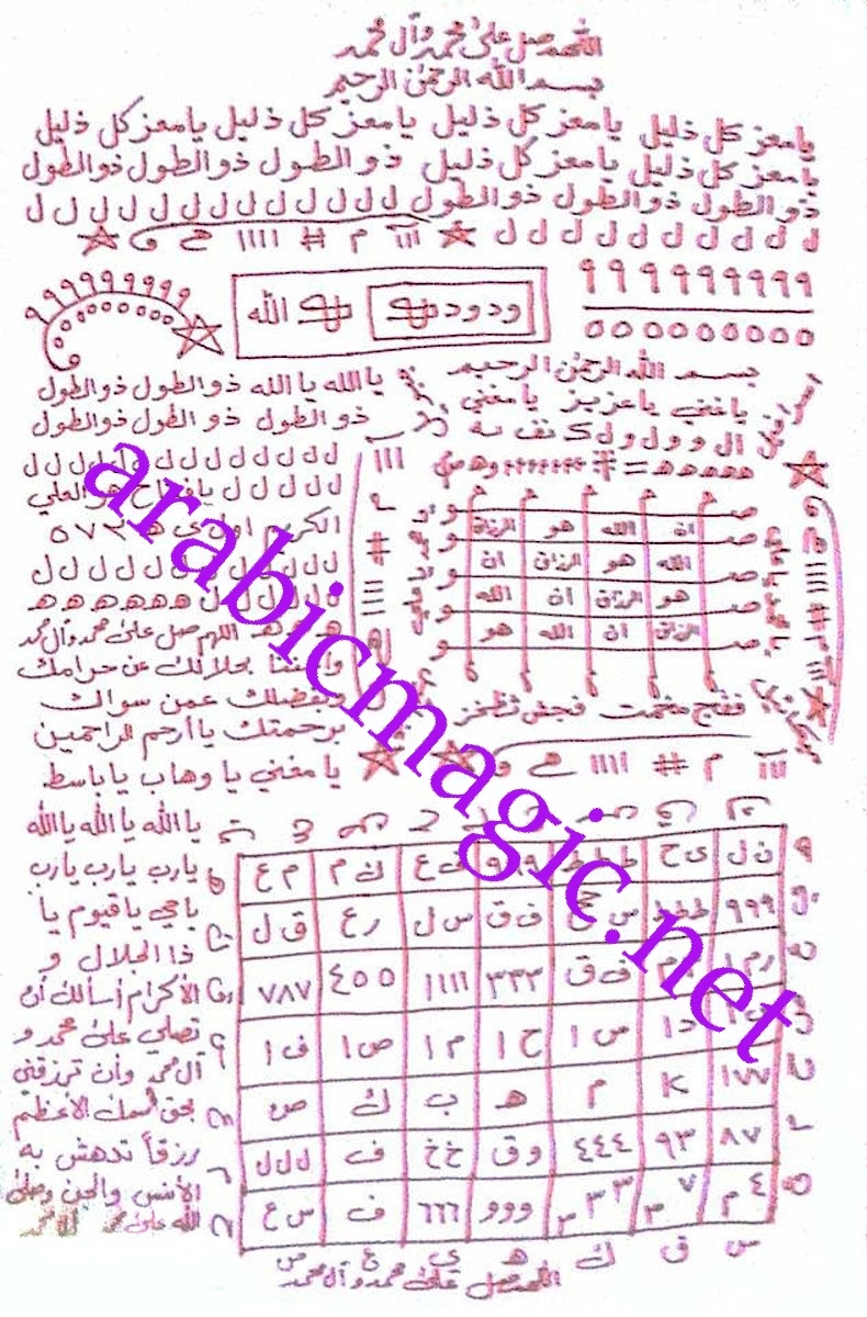 Magical amulet/taweez of Al-Buni- absolute protection against any form of evil - $190.00