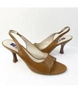 Wittner Women's Brown Leather Ankle Strap Heel Sandals Sz 40 (US 9) - $32.71
