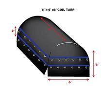 XTARPS XT-CT15-B060606 Flatbed Truck Tarp, Light Weight Coil, 6 ft x 6 f... - $107.78
