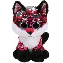 "Pyoopeo Ty Sequins Flippables 6"" 15cm Jewel the fox Plush Regular Big ey... - $10.39"