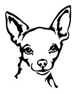 DOG - Lovely Chihuahua Car Styling Vinyl Sticker #2 - 6 x 7 inch Shipped... - $6.88