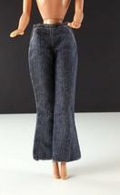 Barbie Denim Bell Bottom Pants Dark Wash Clone 1960s Clothing - $11.87