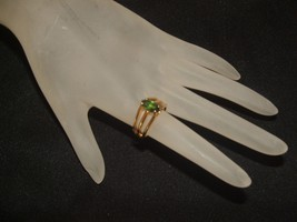COLLECTIBLE vintage1970's merlite ring large 14... - $34.64