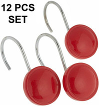 """Carnation """"color round"""" Ceramic Resin Shower Curtain Hook,Red,12 Pcs, PH... - $19.79"""