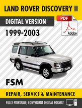 1999 - 2003 LAND ROVER DISCOVERY 2 II FACTORY SERVICE REPAIR MANUAL WORK... - $9.90