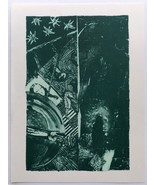 Jasper Johns Summer Green State II 1985-1991 lithograph on paper JKLFA.com - $470.25