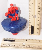 "SPIDERMAN MARVEL COMICS SPIN TOPPER - SPIDEY 3"" TOY FIGURE MCD'S 2014 USED - $4.88"
