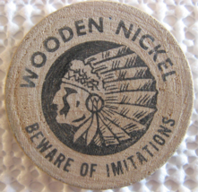 """Wooden Nickel From: """"Coin Show Billings, Mt."""" - (sku#4966) - $7.50"""