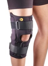 "Corflex Anterior Closure Knee Wrap with Hinge - 3/16"", 13"" Large #88-1315-000 - $48.49"